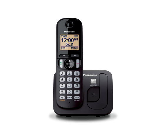 Telefon DECT, negru, KX-TGC210FXB, Panasonic, TESTARE in showroom