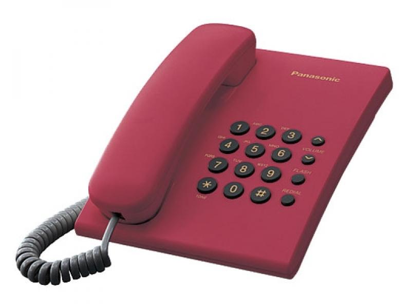 Telefon analogic Panasonic KX-TS500FXR,rosu, TESTARE in showroom