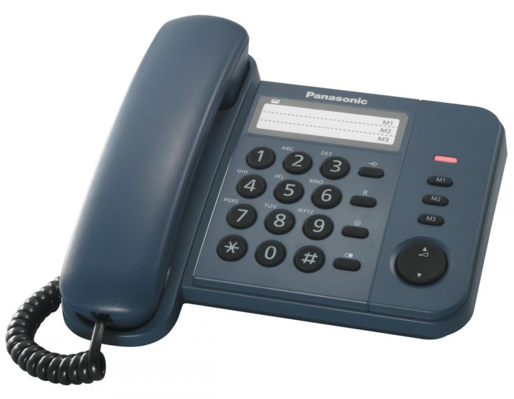 Telefon analogic Panasonic KX-TS520FXC, indigo, TESTARE in showroom