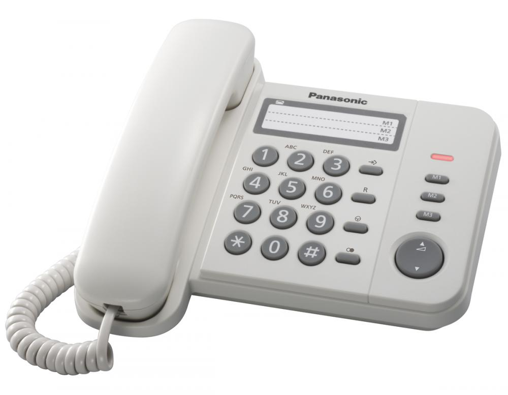 Telefon analogic Panasonic KX-TS520FXW,alb, TESTARE in showroom