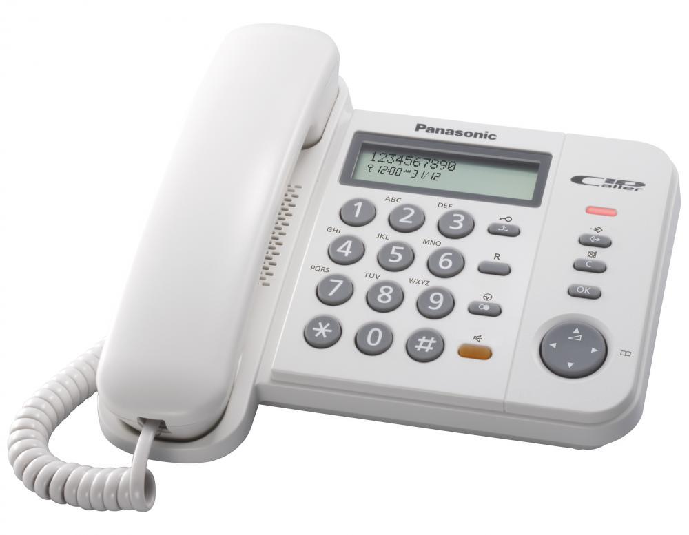 Telefon analogic Panasonic KX-TS580FXW, TESTARE in showroom