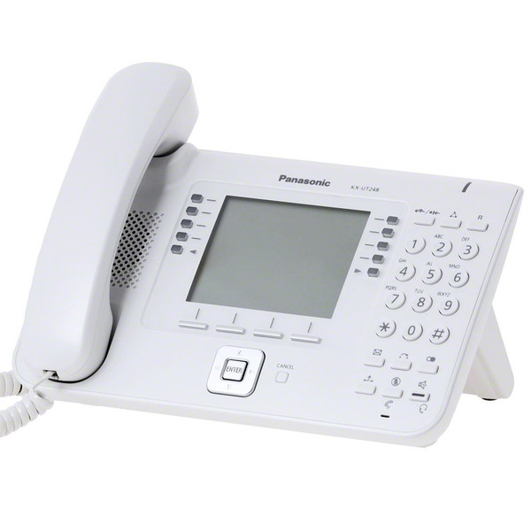telefon sip panasonic kx-ut248ne, negru