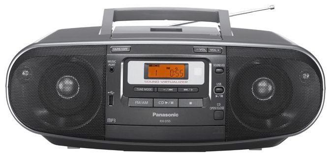 Radiocasetofon portabil cu CD, Panasonic, model RX-D55EG-K,TESTARE in Showroom