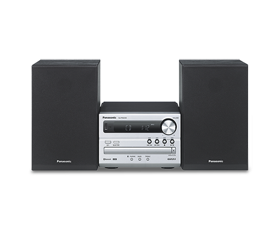 Microsistem audio SC-PM250ECS, 20W, USB, Bluetooth, argintiu,Panasonic